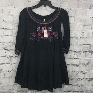 Free People Embroidered Tunic Dress 01004